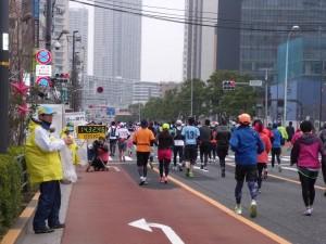 東京マラソン2015沿道警備画像
